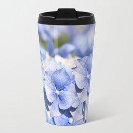Blue hydrangea- Flower Floral Travel Mug