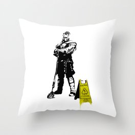 Every day heroes - Mop Champion Throw Pillow