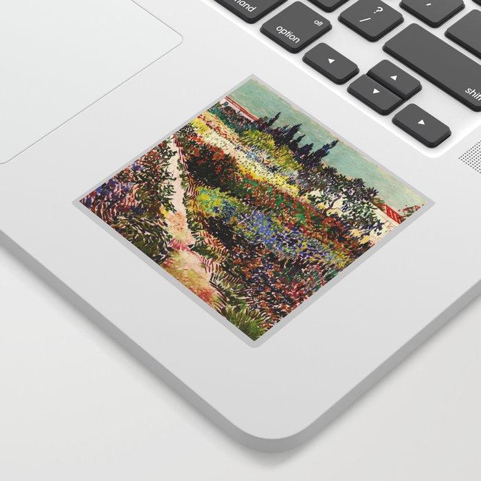 Vincent Van Gogh Flowering Garden Sticker