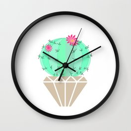 Round cactus in the goshka Wall Clock