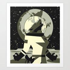 Werewolf in the Moon Art Print