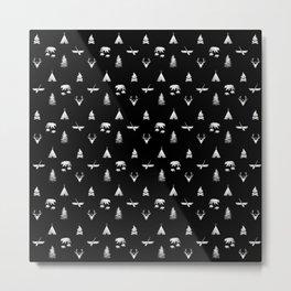 CAMPING (black) Metal Print