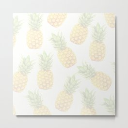 Faded Pineapples Metal Print