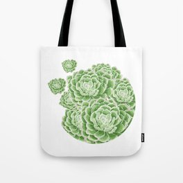 Green Succulent Tote Bag