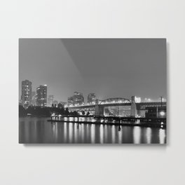Purple Haze BW Metal Print