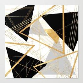 Black and Gold Geometric Canvas Print