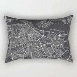 Amsterdam Map, Netherlands - Gray Rectangular Pillow