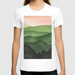 Watercolor layers of mountains T-shirt