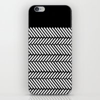 herringbone iPhone & iPod Skins featuring Herringbone Boarder by Project M