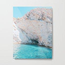 Sea Caves in Mallorca Spain Metal Print
