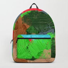 4   | Abstract Expressionism| 210210| Digital Abstract Art Textured Oil Painting Backpack