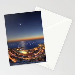 yacht sunset 2015 Stationery Cards