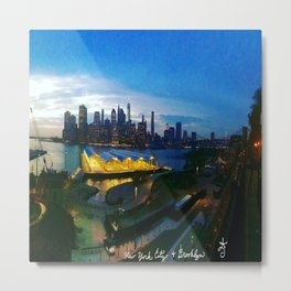 New York City as viewed from the Beautiful Brooklyn Heights Metal Print