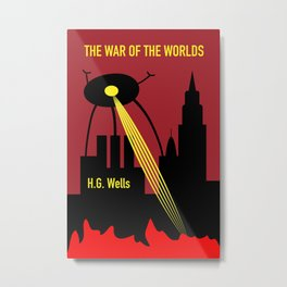 The War of the Worlds - H. G. Wells Metal Print
