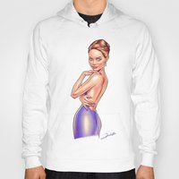 emma stone Hoodies featuring Emma Stone by Renato Cunha