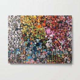 Button Wall Metal Print