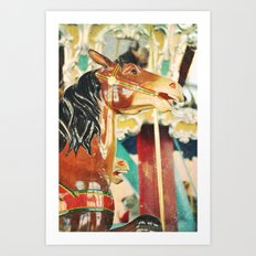 Then the Carousel Started Art Print
