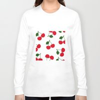cherry Long Sleeve T-shirts featuring cherry by vitamin