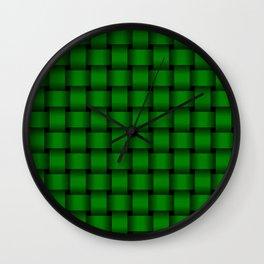 Green Weave Wall Clock