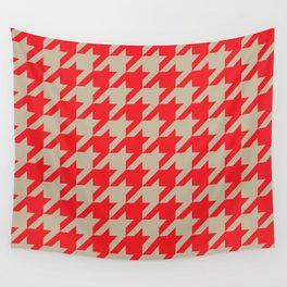 Houndstooth (Brown and Red) Wall Tapestry