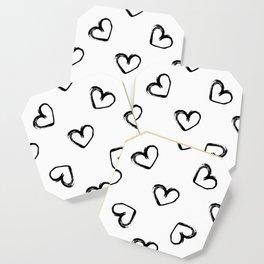 Hand Drawn Valentine Hearts Coaster