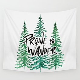 Prone to Wander - Green Wall Tapestry