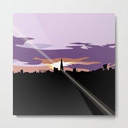 London Equinox Sunset 01 Metal Print