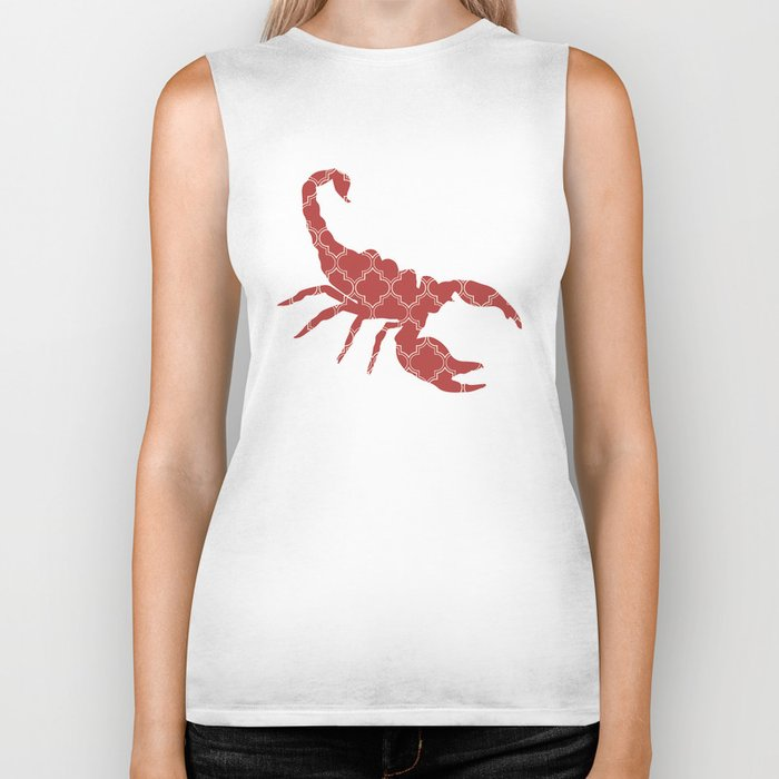 SCORPION SILHOUETTE WITH PATTERN Biker Tank