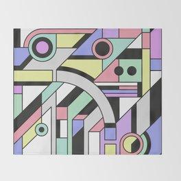De Stijl Abstract Geometric Artwork Throw Blanket