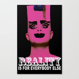 REALITY BLACK Canvas Print