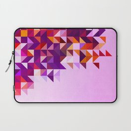 Colourful and Vibrant Geometric Nature on Ombre Pink Laptop Sleeve