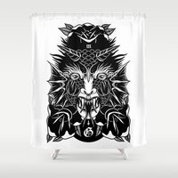 demon Shower Curtains featuring Demon by MIRKOW GASTOW