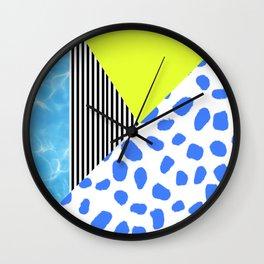 Post Modern Summer Wall Clock