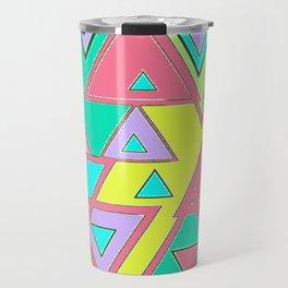 Colorful triangles Travel Mug
