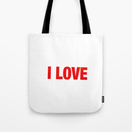 Standing Gross Motor Movements Gymnastics Running I Love Front Lever Calisthenics Gift Tote Bag