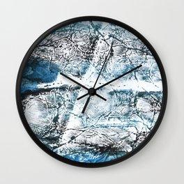 Gray Blue Marble wash drawing Wall Clock