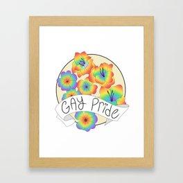 Gay Pride Flowers Framed Art Print
