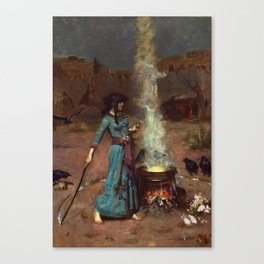 The Magic Circle John William Waterhouse Painting Canvas Print