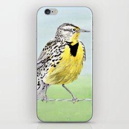 Wyoming Meadowlark Bird Art iPhone Skin