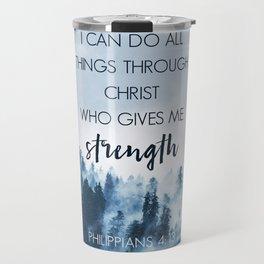 Forest Philippians 4:13 Travel Mug