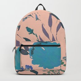 hand draw watercolor floral pattern design Backpack