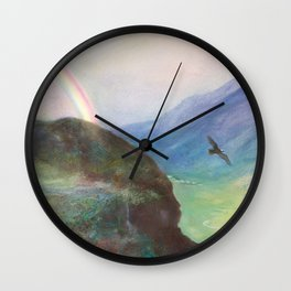 Belle's Journey: Over the Mountains Wall Clock