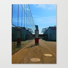 Modern glass window reflections | architectural photography Canvas Print