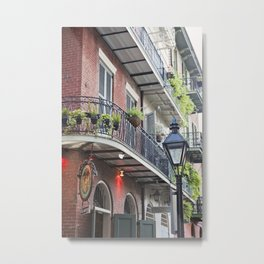 New Orleans Pirates Alley Streetlamp Metal Print