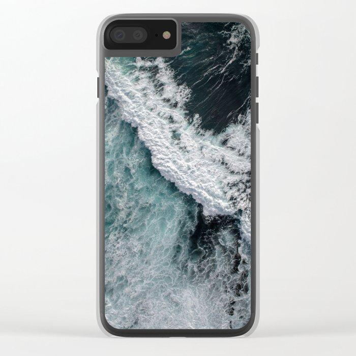 Ocean Wrath Clear iPhone Case