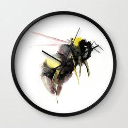 Bumblebee, bee art, bee design Wall Clock