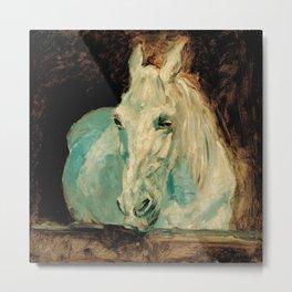 "Henri de Toulouse-Lautrec ""The White Horse Gazelle"" Metal Print"