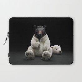 Black bear wearing polar bear costume Laptop Sleeve