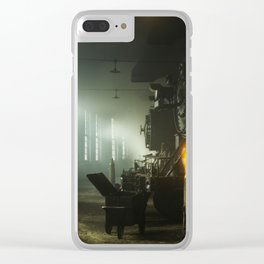 Vintage Railroad Roundhouse - Chicago 1942 Clear iPhone Case