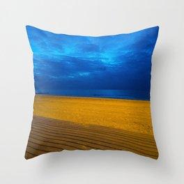 A night at the beach Throw Pillow